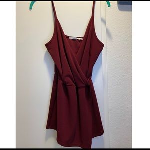 Kimchi Blue Maroon Romper - cute for holiday